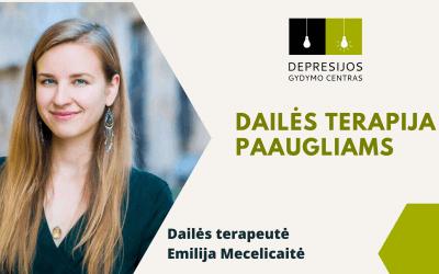 Emilija Mecelicaitė: dailės terapija paaugliams